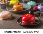 trendy mousse cake with mirror... | Shutterstock . vector #601329590