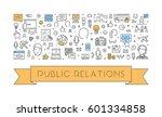 line web banner for public...   Shutterstock .eps vector #601334858