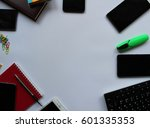 work accessories for work and... | Shutterstock . vector #601335353