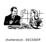 couple having breakfast   retro ... | Shutterstock .eps vector #60133609
