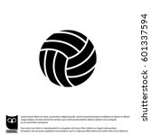 web icon. volleyball | Shutterstock .eps vector #601337594