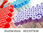 close up of test tubes arranged ... | Shutterstock . vector #601337636