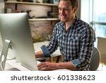 working in office | Shutterstock . vector #601338623