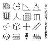 measure related icons set on... | Shutterstock . vector #601342340