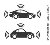 smart car with wireless sensor... | Shutterstock . vector #601342574