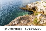 the mediterranean sea rocks in... | Shutterstock . vector #601343210