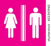 toilet sign man and lady  ... | Shutterstock .eps vector #601343960