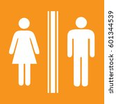 toilet sign man and lady  ... | Shutterstock .eps vector #601344539
