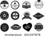 set of black and white graphic... | Shutterstock .eps vector #601347878