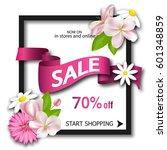 sale background with pink... | Shutterstock .eps vector #601348859