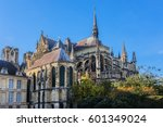notre dame de reims cathedral ... | Shutterstock . vector #601349024
