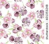 watercolor seamless pattern... | Shutterstock . vector #601353248