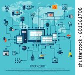 cyber security  | Shutterstock .eps vector #601361708