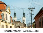 view on two church bell towers... | Shutterstock . vector #601363883
