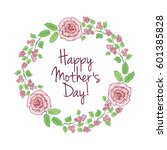 happy mothers day card. hand... | Shutterstock .eps vector #601385828