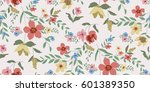 seamless floral pattern in... | Shutterstock .eps vector #601389350