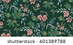 seamless floral pattern in... | Shutterstock .eps vector #601389788