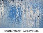 the pattern freezing window on... | Shutterstock . vector #601391036