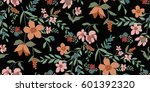 seamless floral pattern in... | Shutterstock .eps vector #601392320