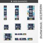 vector advertising web banners... | Shutterstock .eps vector #601395494