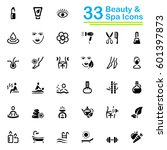black beauty and spa icons | Shutterstock .eps vector #601397873