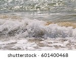 waves on the black sea coast  a ... | Shutterstock . vector #601400468