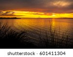 beautiful sunset view of the... | Shutterstock . vector #601411304