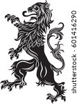the rebels lion   the heraldic... | Shutterstock .eps vector #601416290