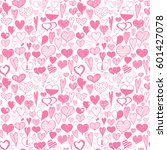 hand drawing seamless pattern... | Shutterstock .eps vector #601427078