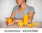 healthy drink  diet  detox and... | Shutterstock . vector #601442888