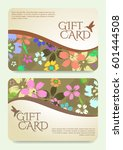 gift certificate template with... | Shutterstock .eps vector #601444508
