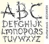 vector sketch alphabet | Shutterstock .eps vector #60144454