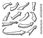 set of doodle arrow vector... | Shutterstock .eps vector #601460918