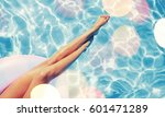 swimming pool. | Shutterstock . vector #601471289