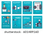 equipment of the photographer...   Shutterstock .eps vector #601489160