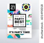 invitation disco party poster... | Shutterstock .eps vector #601493018