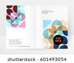 memphis geometric background... | Shutterstock .eps vector #601493054