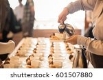 coffee break at conference... | Shutterstock . vector #601507880