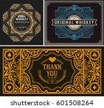 set whiskey labels. vector | Shutterstock .eps vector #601508264