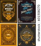 set whiskey labels. vector | Shutterstock .eps vector #601508270