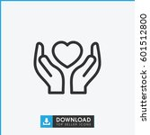 hands holding heart icon.... | Shutterstock .eps vector #601512800