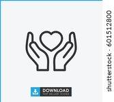 hands holding heart icon.... | Shutterstock .eps vector #601512800