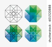 vector geometric symbol of... | Shutterstock .eps vector #601520888