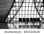 thailand airport. empy seating... | Shutterstock . vector #601523618
