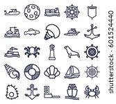 marine icons set. set of 25... | Shutterstock .eps vector #601524440
