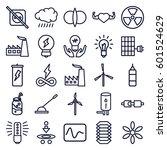 energy icons set. set of 25... | Shutterstock .eps vector #601524629