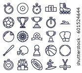 competition icons set. set of... | Shutterstock .eps vector #601524644