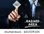 business man pointing hand on... | Shutterstock . vector #601539104