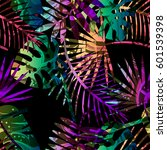 seamless tropical vector... | Shutterstock .eps vector #601539398