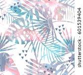seamless tropical vector... | Shutterstock .eps vector #601539404